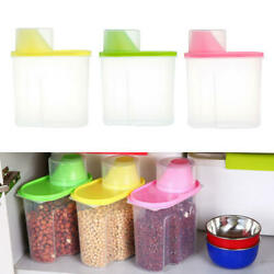 Kitchen Dried Cereal Dispenser 2.5l Candy Food Storage Box Containers Bins