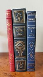 Franklin Library 3x Lot. Quarter Leather Bound And Faux Leather Free Shipping