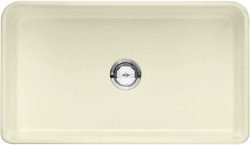 Blanco 524258 Cerana Apron-front Farmhouse Kitchen Sink With Grid Included, Bisc