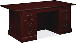 Hon 94271nn 94000 Series 72 By 36 By 29-1/2-inch Double Pedestal Desk Mahogany
