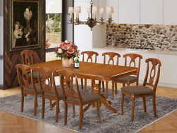 East West Furniture Nana9-sbr-c 9-pc Dining Set – 8 Dining Room Chairs And Dinin