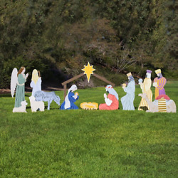 Outdoor Nativity Store Complete Outdoor Nativity Set Life-size, Color