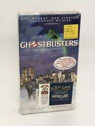 Vintage Ghostbusters Factory Sealed Vhs / Ghostbusters Movie / Sealed Authentic