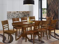 East West Furniture Valy9-esp-w, 9 Pieces, Brown