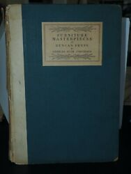Furniture Masterpieces Of Duncan Phyfe 1st Ed Charles Over Cornelius