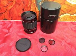 Samyang MC Mirror lens 500mm f8 M42 Mount Near Mint W case And Nd Filters