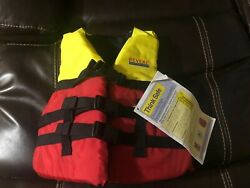 Revere Kids Life Jacket Pfd Type Iii New W/tag 50-90 Lbs Size Youth