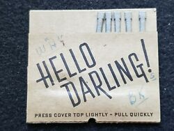 Vintage Pull Matches Book, Mfg=american Pullmatch Div., Westerville, Ohio