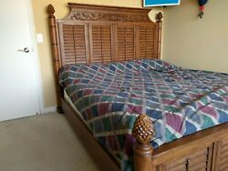 Broyhill Furniture Used King Bed, Box Springs And Mattress. Must Pick Up.