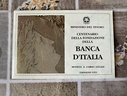 Pack Ipzs Triptych Coins Livres 100 200 500 Bank D'italia Silver Fdc Cover
