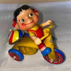 Vintage Fujiya Peko Chan Tin Tricycle Wind Up Toy Movable Is Not Good Rare