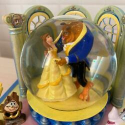 New Disney Tradition Beauty And The Beast Snow Globe Ornament Hallmark Only