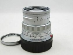 [15597y1] Leica Summicron 50mm F2 M Mount With Fixed Lens Barrel B W Filter