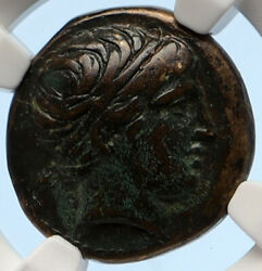 Macedonia Of Philip Ii Ancient Old Greek Coin Apollo Olympic Horse Ngc I95642