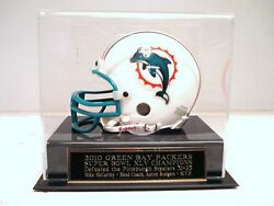 Green Bay Packers Football Mini Helmet Case For Your Super Bowl 45 Signed Mini
