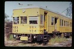 1972 Srs Sperry Rail Services Car 124 At Geneseo, Illinois, Original Slide C8a