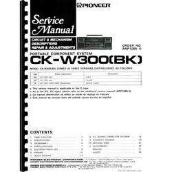 Pioneer Ck-w300 Portable Stereo Boombox Service Manual Pages 41