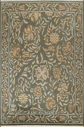 Floral Nepalese Oriental Area Rug Hand-knotted Wool Dining Room Carpet 9x12 Ft