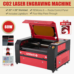 Omtech 28x20 60w Co2 Laser Cutting Etching Engraving Machine With Lightburn