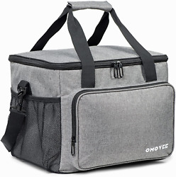 OMOVEE Cooler Bag 30L 40 Cans Collapsible Beach Cooler Bag Portable Soft Larg $39.26
