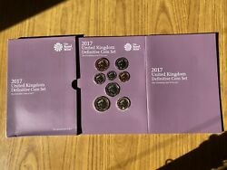 United Kingdom Definitive Coin Set Series 8 Coins 2017 The Royal Mint Nm