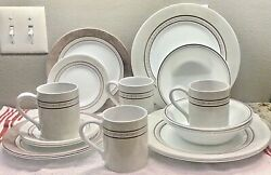 Corelle Pewter Dishes Complete Set For 4, 20 Pieces, Never Used