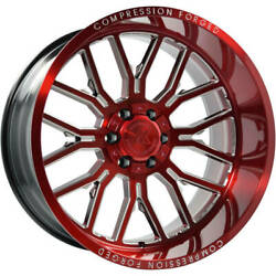 4-new 22x12 Axe Compression Forged 6.2 Red Milled Wheels 8x170 Ford F250 F350