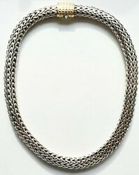 Incredible John Hardy Almost 150 Gram Necklace .925 And 18kt Gorgeous