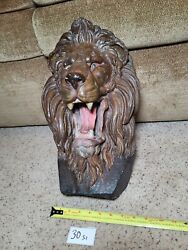 Lionhead Face Wall Hanging Display Store Advertisement Prop King Syrup 30s1