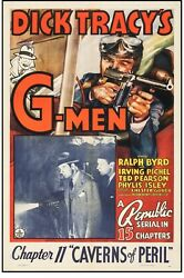 Poster Dick Tracy's G-men 1939 One Sheet 27x41 Vf8 Chapter 11 Caverns Of Peril