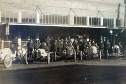 Vintage Antique Early Texas Car Race Photo Circa 1910 Dallas With Drivers Group