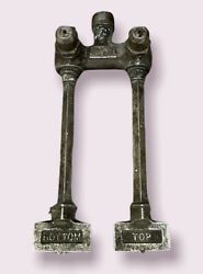 Antique Solid Brass Straight And Richards Co. Double Gas Valve Newark Nj