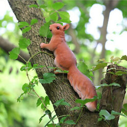 Resin Realistic Squirrel Statue Photo Props Tree Ornament Home Collectible