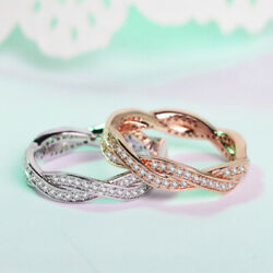 Women Finger Rings Crown Silver Rings Twist Of Fate Anniversary Jewelry Gift