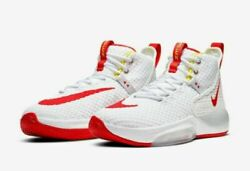 Nike Zoom Rize Sneakers/basketball Shoes Bq5467-100 Menand039s Size 8.5 White/red