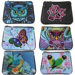 Women DIY Diamond Painting Wallet for Gifts Clutch Storage Bag Mosaic Leather $18.79