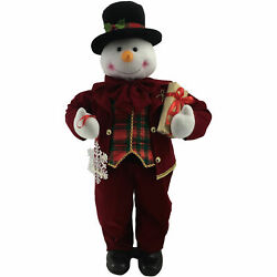 Christmas Holiday Decor 36 Dancing Mr Snowman With Wrapped Gift Box And Music