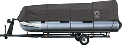 Classic Accessories Stormpro Heavy-duty Pontoon Boat Cover, Fits Pontoon Grey