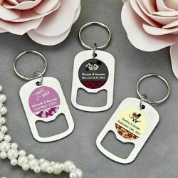 25-250 Personalized Stainless Steel Key Chain Bottle Opener Wedding Party Favor