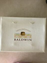 2 Baldwin Brass Round Base 5 Candle Holders/candlesticks New In The Box Vint