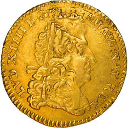 [219997] Coin France Louis Xiv 1/2 Louis Dand039or 1691 Reims Ef Gold
