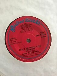 Judy Boucher - Can't Be With You Tonight.   Used 7 Vinyl Record