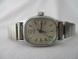 Timex Women's Watch Vintage Stainless Steel Silver Toned Bracelet Band