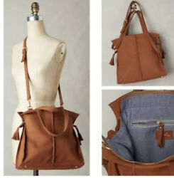 Anthropologie Miss Albright Tela Nubuck Tote Purse Brown Leather 218