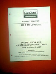 Cub Cadet Compact Tractor Loader Attachment Models 416 And 417 Ownerand039s Manual