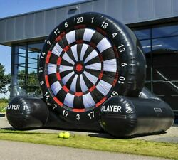 13ft Inflatable Football Dart Board Golf Game Inflatable Soccer Kick Air Blower