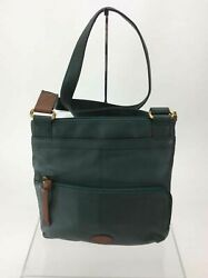 Fossil Green Pebbled Leather Utility Crossbody
