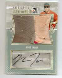 Mike Trout 2011 In The Game Itg Auto And Game Used Glove Autograph Rookie Gu