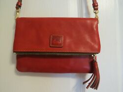 Dooney and Bourke leather crossbody mint condition red $49.99