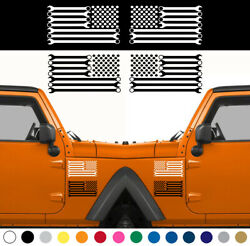 Wrench American Flag Decal Sticker Set Of 2 Left Right Side Mechanic Car Truck
